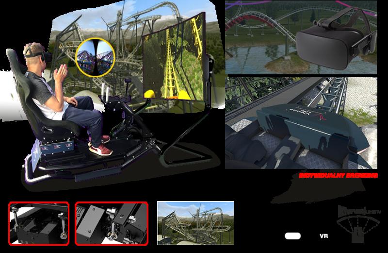 VR wynajem MOTION ROLLER COASTER